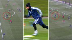 Ploegmaats als kegeltjes: Messi luistert training van Argentinië op met fantastische actie