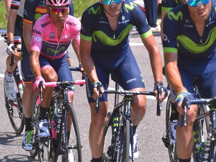LIVE: Dumoulin en Mollema met Quintana over de top van Monte Grappa