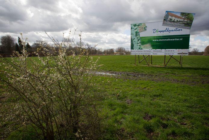 Hier aan de rand van Valkenswaard zou de wijk Dommelkwartier worden gebouwd.