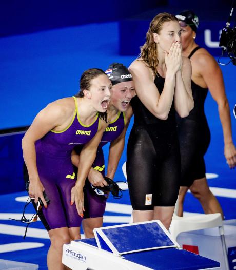 Estafettezwemsters naar finale, mannen redden het niet
