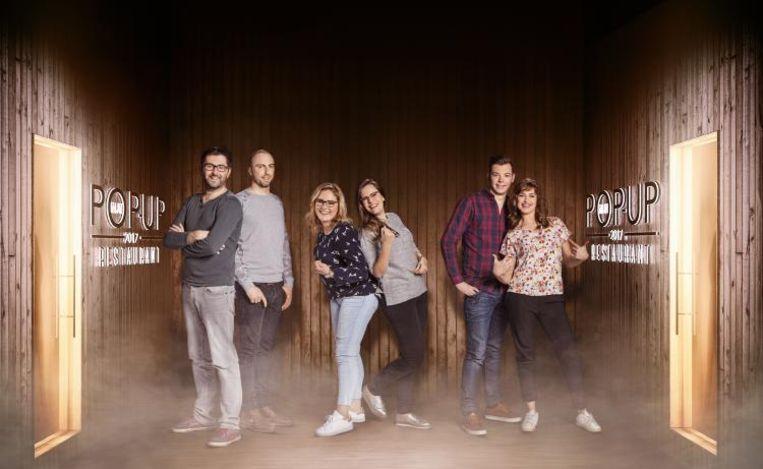 Karel & Birger (TJOP's), Laure & Charlotte (MADAM P), Bo & Emily (Het Vijfde Element) hebben hun pop-up in Antwerpen.