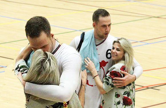 Tanja Dexters met haar nieuwe partner Gillian Schouteet