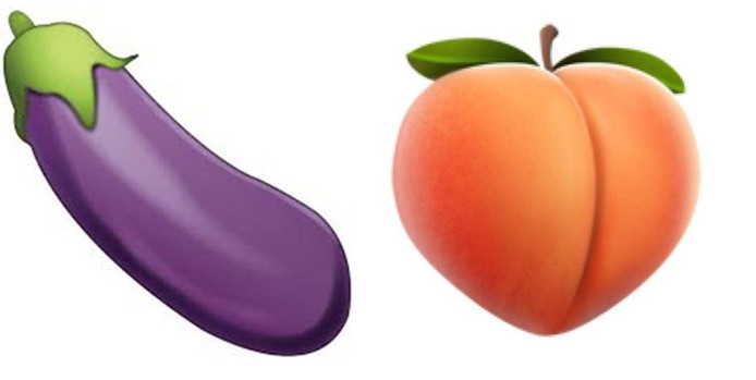 De aubergine en de perzik.