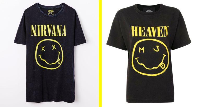 In zijn nieuwe collectie Bootleg Redux Grunge heeft Jacobs kledingstukken met een smiley die volgens Nirvana te veel lijkt op die van de band.