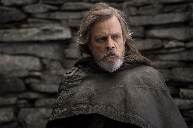 Mark Hamill als Luke Skywalker in Star Wars: The Last Jedi. Beeld null