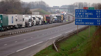 Franse truckers plannen zaterdag 15 wegblokkades uit protest tegen dieselprijzen