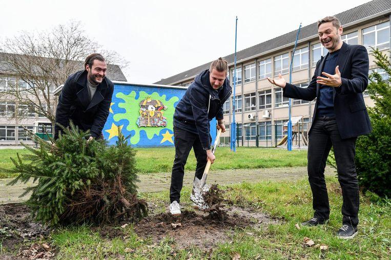 De eerste kerstbomen worden al geplant op het terrein van GoTalent.