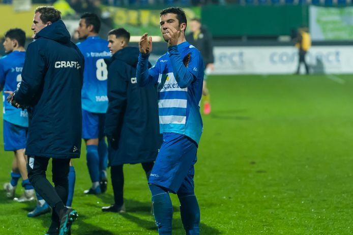 Pelle Clement na het gelijkspel tegen Fortuna Sittard.