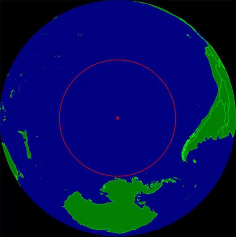 Point Nemo ligt op 2.685 kilometer van het dichtste stuk land.
