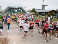 Bloemen voor vrouwen op de halve marathon