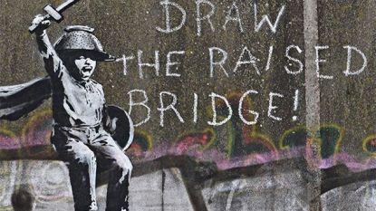 """Nieuwe Banksy opgedoken, fans zijn in de wolken: """"Droom die uitkomt"""""""
