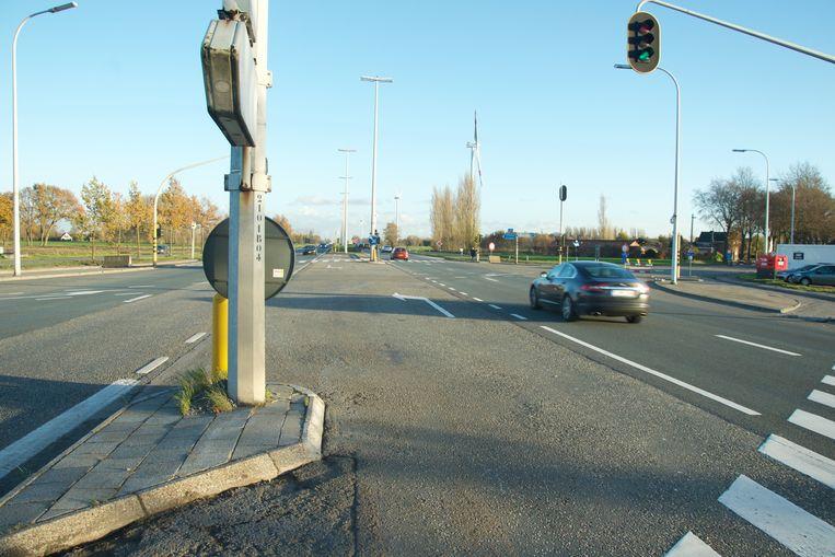 Het ongeval vond plaats op het kruispunt tussen de N49 en de Stroomstraat.