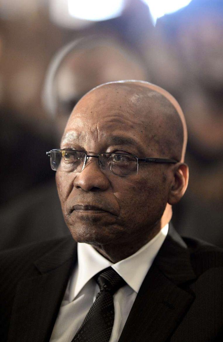 De Zuid-Afrikaanse president Jacob Zuma. Beeld afp