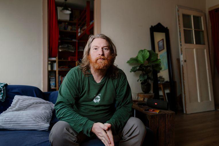 Kramatwegbewoner Peter den Dunnen: 'We moeten als David tegen Goliath vechten.' Beeld Marc Driessen