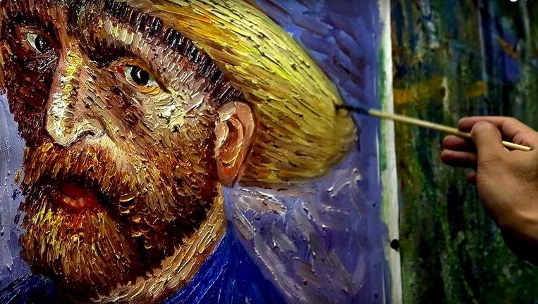 5000 keer hetzelfde schilderij: voor Chinese schilders is het geen onmogelijke opgave. Beeld Still uit film