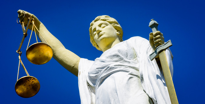 Vrouwe Justitia. (Archieffoto).