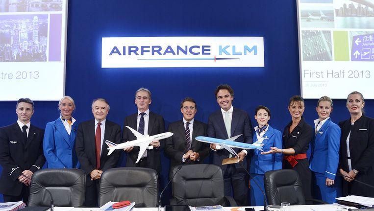 Presentatie van de halfjaarcijfers Air France-KLM met Camiel Eurlings. Beeld anp