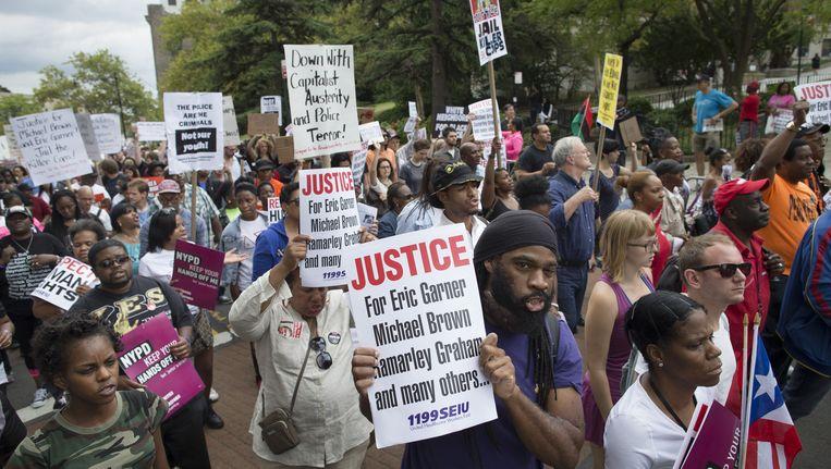 Na de dood van Garner gingen demonstranten in New York de straat op.
