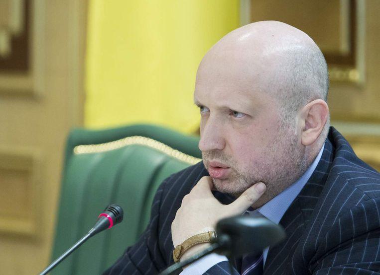 De Oekraïense interim-president Olesandr Toertsjinov. Beeld reuters