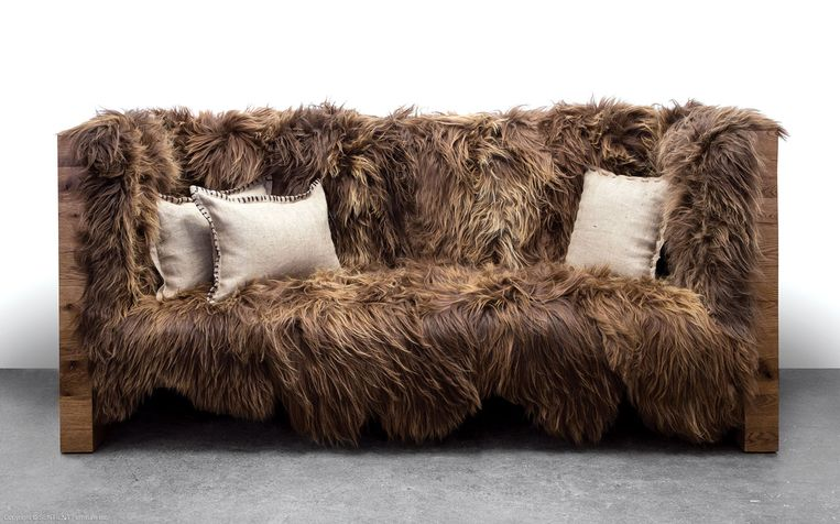 Sofa van schapenwol, richtprijs: 8.350 euro, www.sentientstore.com