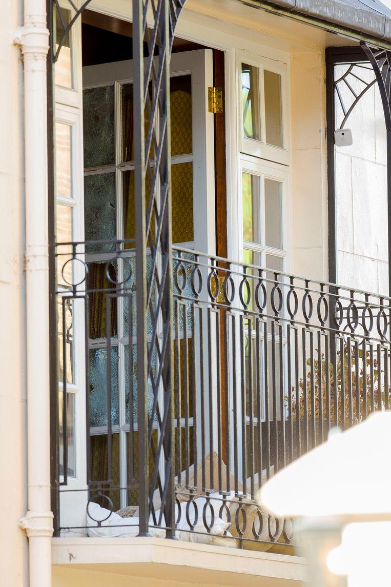 Het huis van George Michael in Londen waar zijn ex-vriend Fadi Fawaz werd gearresteerd.