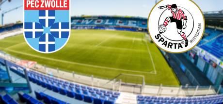 PEC Zwolle - Sparta