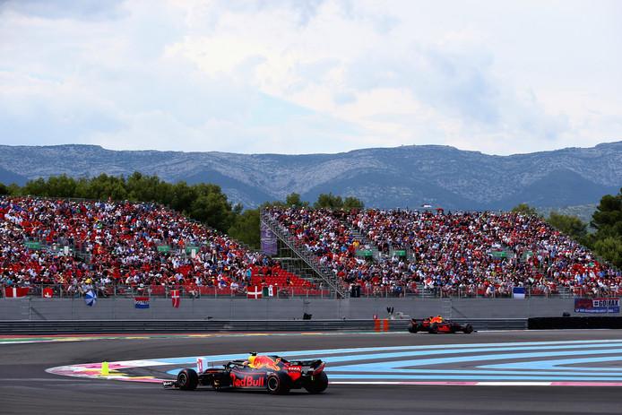 2018: Max Verstappen (rechts), gevolgd door Daniel Ricciardo.