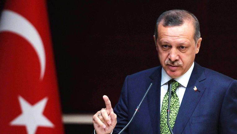 De Turkse president Tayyip Erdogan. Beeld epa