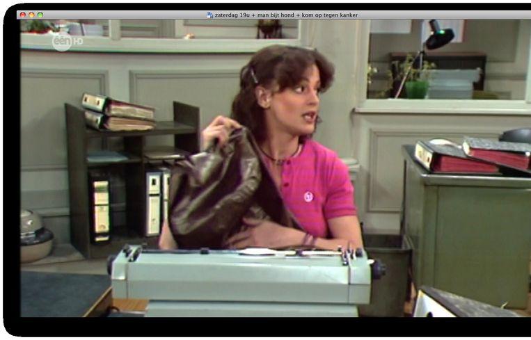 Tessy Moerenhout, hier als typiste Betty Bossé in de Collega's.