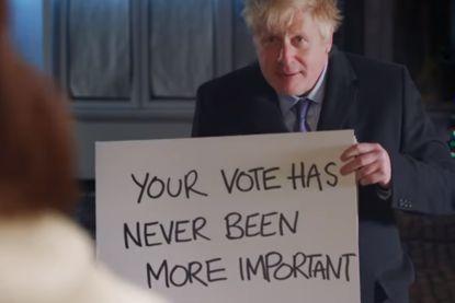 Boris Johnson maakt parodie op Love Actually: 'Brexit actually'