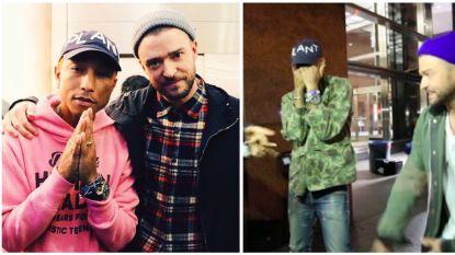 Nieuwe hype: Pharrell Williams en Justin Timberlake dagen je uit voor #LemonDanceChallenge