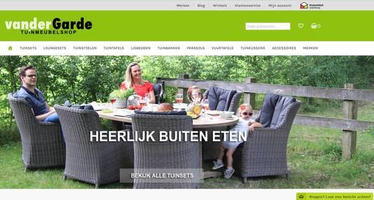 De website van Van der Garde...