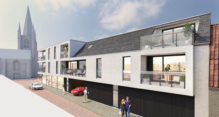 Een conceptbeeld van hoe residentie De Zwarte Leeuw eruit zal komen te zien
