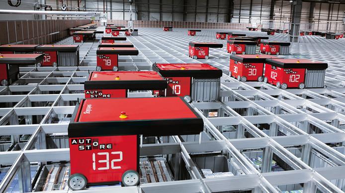 Het gerobotiseerde opslagsysteem dat Versteijnen Logistics in Tilburg gaat gebruiken.