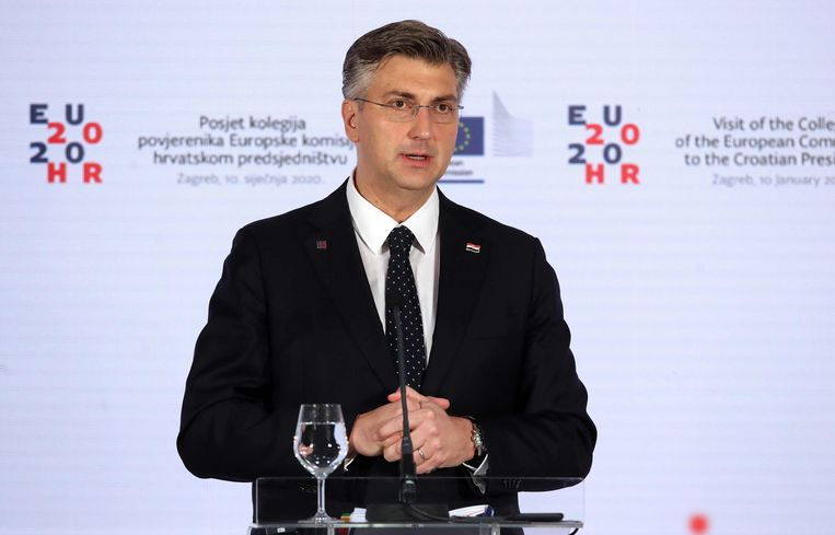 De Kroatische premier Andrej Plenkovic.