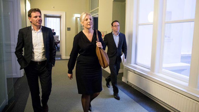 Tweede Kamerlid Attje Kuiken in het Tweede Kamergebouw op weg naar de wekelijkse fractievergadering van de PvdA. Beeld ANP