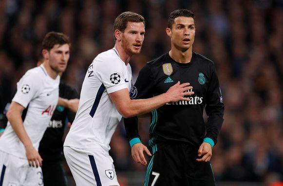 Vertonghen met Cristiano Ronaldo.