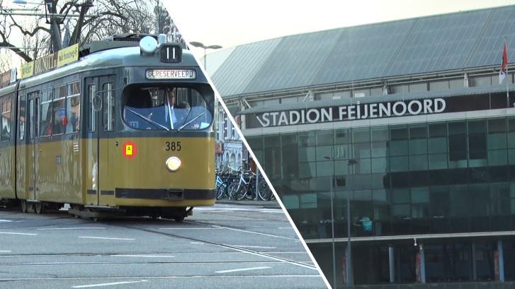Deze tram rijdt een bijzondere route: langs alle voetbalstadia in de stad