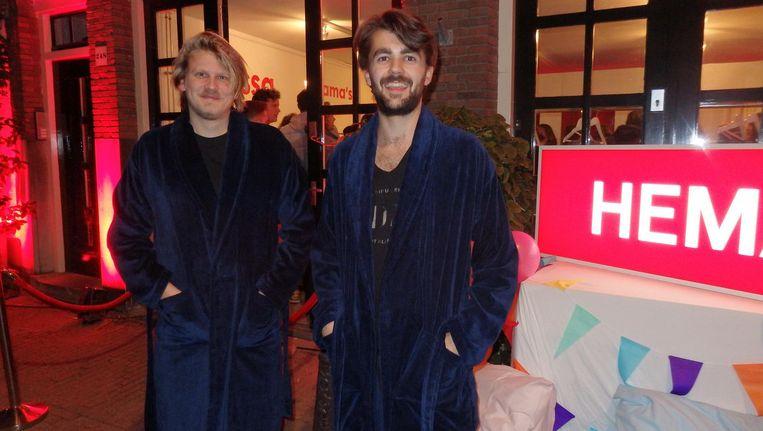 Pim Havinga en Vincent Mulders van Tosti Creative. Havinga: 'Open of dicht? Hoe deed die Hefner dat ook alweer?' Beeld Schuim