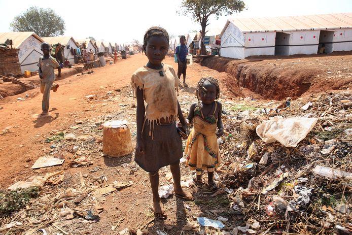Een vluchtelingenkamp in Zuid-Soedan.