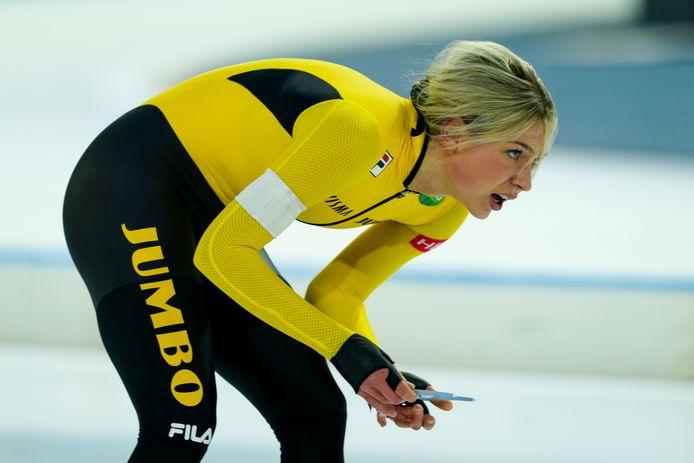 Joy Beune moest diep gaan op haar 5.000 meter tijdens het NK afstanden in Heerenveen.