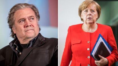 """Steve Bannon bestempelt Merkel als """"de meest destructieve politica van de 21ste eeuw"""""""