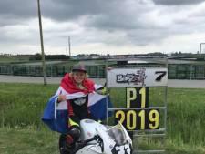 Loris Veneman (12) uit Dalfsen racet op 'mini-motor' naar Europese titel
