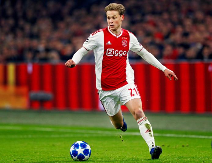 Ajax-Bayern Munchen Champions League 2018/2019 Frenkie de Jong in volle actie Foto ; Pim Ras