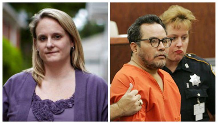 Holly en rechts de man die haar probeerde te vermoorden.