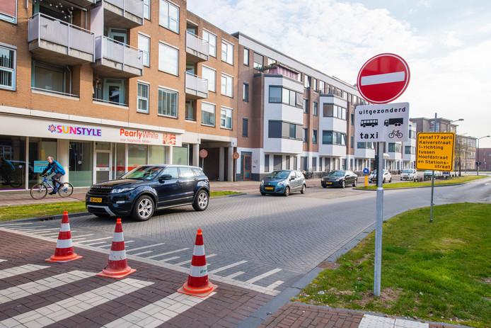 Vanaf vandaag eenrichtingverkeer Kalverstraat.