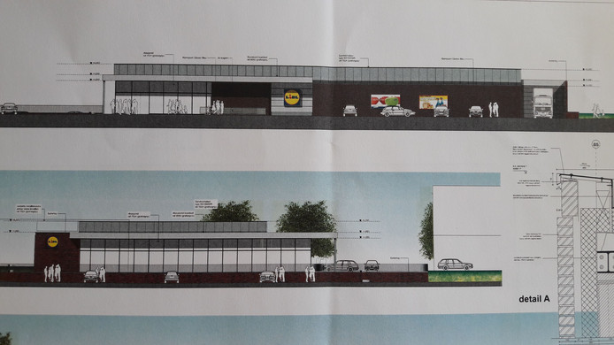 Een impressie van de nieuwe Lidl-supermarkt in Heinkenszand.