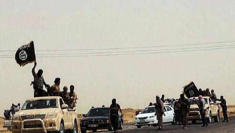 Beeld van IS-militanten in Irak. Beeld afp