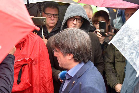 De mars voor de vrijheid, met  Carles Puigdemont.