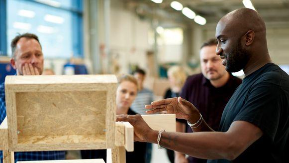 Virgil Abloh stelt collectie voor in IKEA (archiefbeeld).